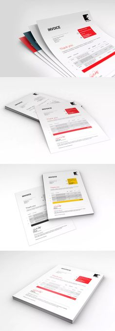 Invoice Template Indesign Indd  A  Us Letter Size  Invoice