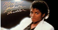 Micheal Jackson album cover Thriller