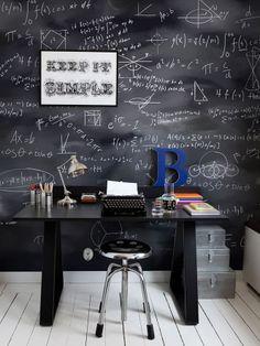 Home office con fórmulas