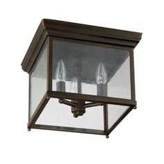 Capital Lighting 9546OB Traditional 3-Light Flush Mount, Old Bronze Finish with Seedy Glass - Close To Ceiling Light Fixtures - AmazonSmile