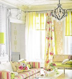 OH! sweet spring! Such a great mix of fabrics and color!  EclecChic: Chic