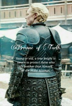 Ser Brienne of Tarth, knighted by Jaime Lannister, Game Of Thrones Outfits, Game Of Thrones Facts, Game Of Thrones Costumes, Game Of Thrones Quotes, Hbo Game Of Thrones, Lady Brienne, Jaime And Brienne, Brienne Of Tarth, Jaime Lannister