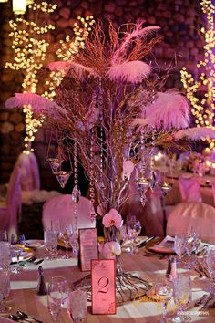tall, and stunning yet simple centerpiece
