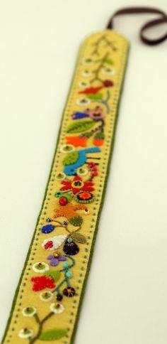Gorgeous embroidered felt headband