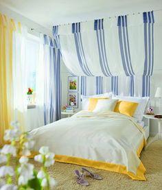 Schönes Schlafzimmer mit Gardisette. :-)