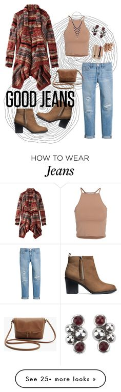 """""""Good Jeans"""" by brookea1998 on Polyvore featuring American Eagle Outfitters, NLY Trend, H&M, White House Black Market, NOVICA, Lucky Brand, Trish McEvoy, Marc Jacobs, women's clothing and women"""