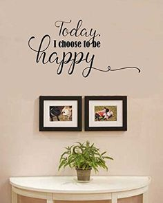 TodayI choose to be happy Vinyl Wall Art Decal Sticker ** More info could be found at the image url.Note:It is affiliate link to Amazon.