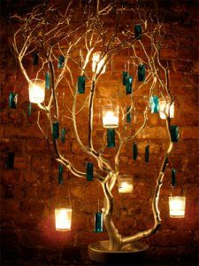 electric wire - lights - tree