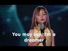IMAGINE - Pretty, talented, down to earth, sweet natured, caring. Connie Talbot. She's soooo fantabulous.