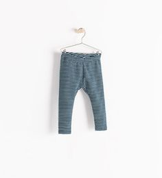 STRIPED LEGGINGS WITH LINING from Zara