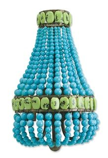 Lana Wall Sconce, Turquoise Curry and Company