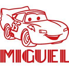 Rayo McQueen,  #vinilo #infantil personalizado con nombre