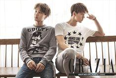 EXO's Sehun and Kai Shows Off Fresh Looks For Grazia Magazine <3
