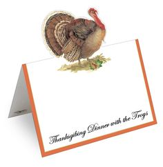 Thanksgiving Turkey Printed Placecards