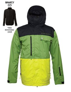 686 AUTHENTIC SMARTY FORM SNOWBOARD JACKETThe Form jacket is new for 2015 and replaces the best selling Smarty Command jacket with removable liner and great 15k 10k rating. WIth the 3 in 1 liner you can wear this with one of three ways with the liner zipped in for extra warmth #snowboards #mensnowboardjackets #686authenticsmartyformsnowboardjacket #colourgrasscolorblock