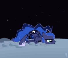 Luna is bored. (Anyone noticed that she's on the moon but she's not Nightmare Moon?)