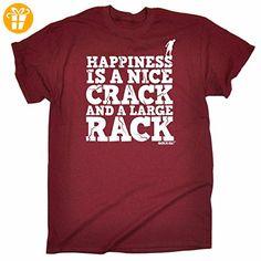 Adrenaline Addict Herren T-Shirt, Slogan Large Gr. Medium, Rot - Maroon - Shirts mit spruch (*Partner-Link)