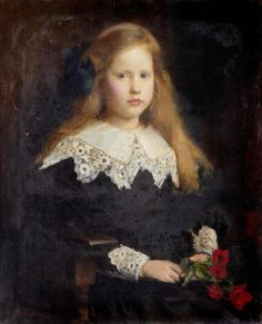 View Portrait of a young girl holding red tulips by George Spencer Watson on artnet. Browse upcoming and past auction lots by George Spencer Watson. Painting For Kids, Art For Kids, Children Painting, Amber Tree, 19th Century Fashion, Red Tulips, 8th Of March, Vintage Pictures, Oil On Canvas