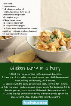 In a hurry is no lie with this recipe. Perfect for a hectic night when you crave something exotic.