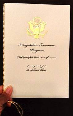 Official Program of the 2013 Presidential Inauguration Ceremonies