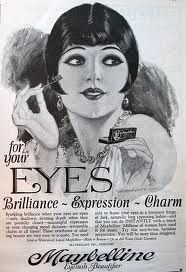 """Vintage Makeup Maybelline ad - maybelline: """"A vintage Maybelline ad from the """" How gorgeous is the makeup ad from the I love the simplicity of it all (no photoshop and lash inserts here! Vintage Makeup Ads, 1920s Makeup, Vintage Beauty, Vintage Fashion, Retro Makeup, Gatsby Makeup, Flapper Makeup, Fashion 1920s, Louise Brooks"""
