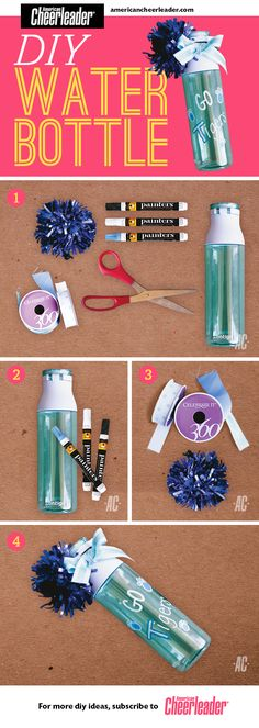 Staying hydrated should be at the top of every cheerleader's to-do list. Here's the perfect #DIY project to keep you cool this year.
