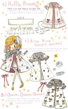 how to style a peignoir lolita princess style