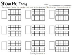 16 Best Images of Teen Number Practice Worksheet - Teen Number Worksheet, Kindergarten Ten Frame Teen Number Worksheets and Kindergarten Ten Frame Teen Number Worksheets Number Worksheets Kindergarten, Math Worksheets, Kindergarten Math, Teaching Math, Printable Worksheets, Addition Worksheets, Free Printable, Preschool Learning, Learning Activities