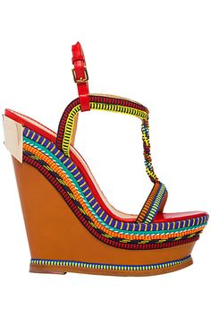 Dsquared2 Main Collection Accessories Multicolor Wedge Sandal Spring-Summer 2014 #Shoes #Wedges