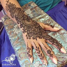 "1,315 Likes, 15 Comments - SARAHENNA (@sarahennaseattle) on Instagram: ""Eid appointments are underway! This was for beautiful Elham. . . #sarahenna #henna #hennapro…"""