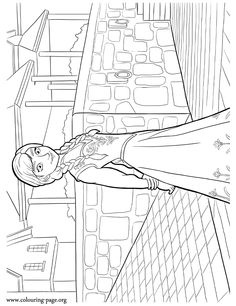 In this beautiful picture, Princess Anna is walking in Arendelle's downtown . Frozen Coloring Sheets, Love Coloring Pages, Disney Coloring Pages, Frozen Princess, Princess Anna, Female Movie Characters, Arte Disney, Disney Frozen, Cool Kids