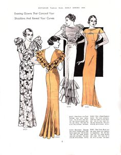 Butterick Fashion Book, Early Spring 1934 featuring Butterick 5437, 5424 (Molyneux), 5483 and 5481