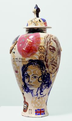 Grayson Perry, Sex Drugs and Earthenware, Glazed ceramic, 54 x cms, x inches Turner Contemporary, Contemporary Artists, Grayson Perry Art, National Art, Art Courses, Rockn Roll, Vase, Glazed Ceramic, Ceramic Pots