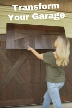 GarageSkins Give You a Wood Look Without the Cost Update your garage door with some simple wood panels or paint. Faux Wood Garage Door Diy, Garage Door Panels, Wood Garage Doors, Garage Door Design, Garage Flooring, Garage Cabinets, Painting Garage Doors, Garage Door Paint, Garage Room