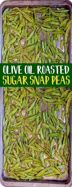 These Olive Oil Roasted Sugar Snap Peas are AMAZING!! They are super healthy and SO addicting -- in a good way. Try them! They're also low in carbs and keto diet friendly! #sugarsnappeas #lowcarb #keto #lowcarbsnack #ketosnack #ketodiet #ketorecipes