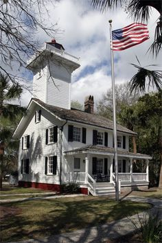 Haig Point Lighthouse on Daufuskie Island, SC, was built in 1872 by the US Lighthouse Board. The lighthouse was first lit on Oct. 1, 1873. It was constructed as a guide to mariners navigating the shifting sand shoals off the north end of Daufuskie Island as they negotiated the channel between Savannah, GA and Port Royal, SC. Two separate beacons served as a range for Calibogue Sound.
