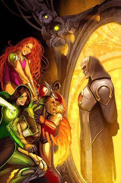 justice league odyssey issue 2 cover by nebezial on DeviantArt Dc Comics Superheroes, Dc Comics Characters, Dc Comics Art, Marvel Dc Comics, Fantasy Characters, Comic Book Artists, Comic Book Heroes, Comic Books Art, Comic Art