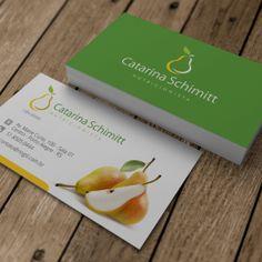 cartão de visita nutricionista Marie Curie, Business Logo Design, Business Card Logo, Name Card Design, Farm Logo, Name Cards, Personal Branding, Fit, Place Card Holders