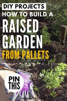 Summer is approaching and what better way to maximize your backyard real estate than by building a raised garden bed. Whether you're planting veggies or flowers, check out our DIY tutorial on how to build your own raised garden bed from pallets after the jump.  #thesawguy #summerideas #gardenideas #raisedgardenbed #palletprojects #diyvegetablebed