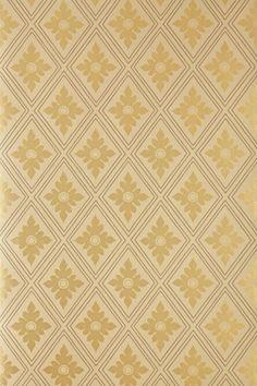 Ranelagh by Farrow & Ball - Gold - Wallpaper : Wallpaper Direct Gold Wallpaper, Print Wallpaper, Colorful Wallpaper, Pattern Wallpaper, Wallpaper Stairs, Kitchen Wallpaper, Farrow Ball, Free Wallpaper Samples, Free Samples