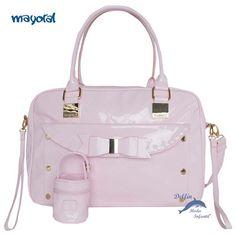 Bolso y portachupetes de MAYORAL PUERICULTURA de charol color rosa