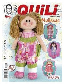 #Revista Hugo #Quili #Muñecas  ---->> Distribuidores www.minauri.com Sewing Magazines, Doll Tutorial, Felt Toys, Ronald Mcdonald, Doll Clothes, Ecuador, Pattern, Crafts, Tape Art
