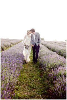 Lavender Field Wedding / Photo by Eddie Judd