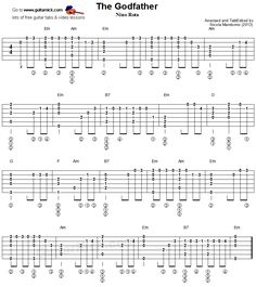 The Godfather - fingerstyle guitar tablature