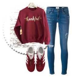 """""""Untitled #626"""" by aaisha123 ❤ liked on Polyvore featuring Frame and adidas"""