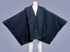 Comme Des Garcons kimono sleeve wool coat, early 1980s.