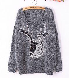 Deer Sequins Sweater