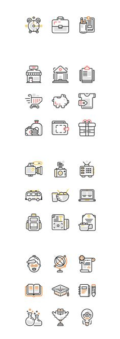 ⬇ Free download: 30 Line Icons for #WebDesign