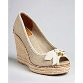 These will be my next purchase! Tory Burch Peep Toe Platform Wedge Espadrilles - Jackie