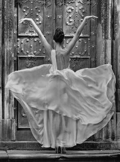 The dress, the pose, the door- all perfect. Although, I think what I like most about this is how classy the tattoo looks